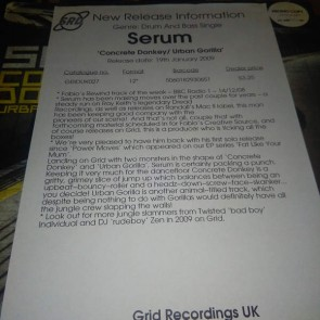 Serum - Concrete Donkey / Urban Gorilla - Grid Recordings - GRIDUK027