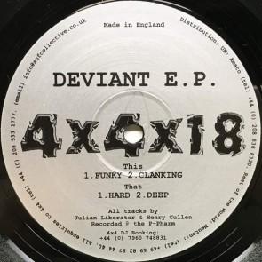 Julian Liberator & Henry Cullen - Deviant E.P. - 4 x 4 Recordings - 4x4x18
